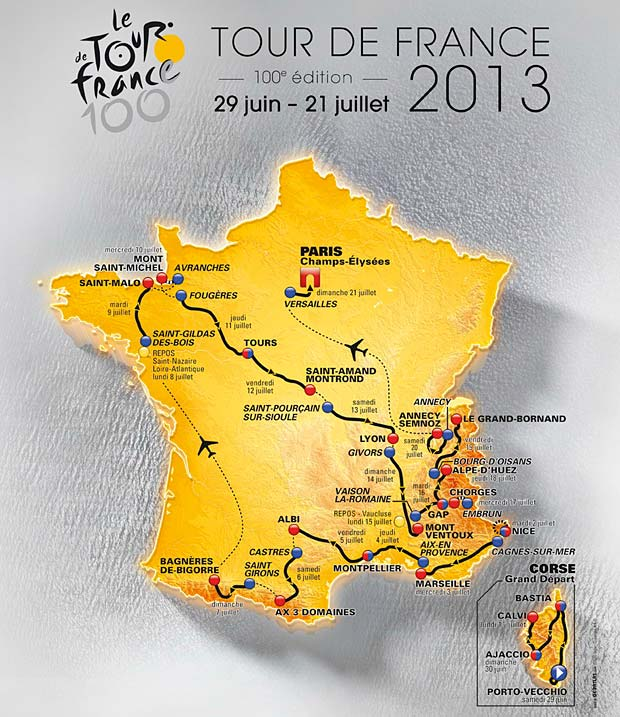 tour de france 2013 dates et circuit le site de l. Black Bedroom Furniture Sets. Home Design Ideas