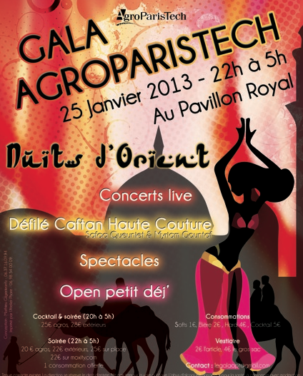 GALA AGROPARISTECH AU PAVILLON ROYAL