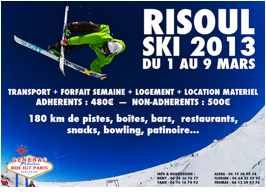 &laquo;&nbsp;FABULOUS SNOW WEEK : RISOUL 2013&Prime; / BDE GENERAL IUT PARIS DESCARTE du 1er au 10 mars 2013