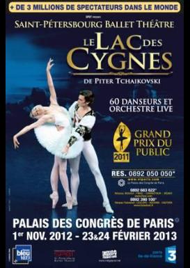 Le lac des cygnes saint petersbourg ballet theatre palais des congres du 23 au 24 f vrier - Lac des cygnes porte maillot ...
