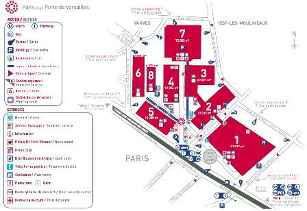 Parc des expos plans le site de l 39 ev nementiel for Salon education porte de versailles