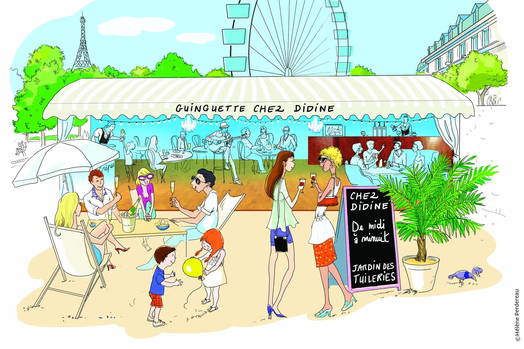 La guinguette chez didine jardin des tuileries le - Terrasse des feuillants jardin des tuileries ...