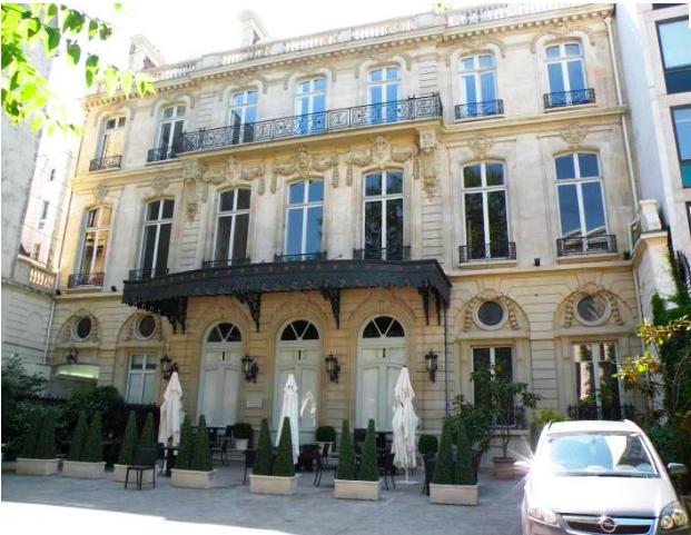 H tel le marois location 75008 paris for Location hotel a paris