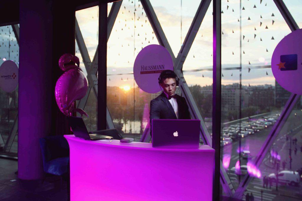Vue sur le DJ