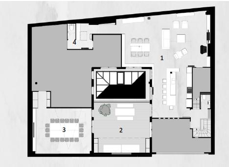 Plan - Suite avec terrasse