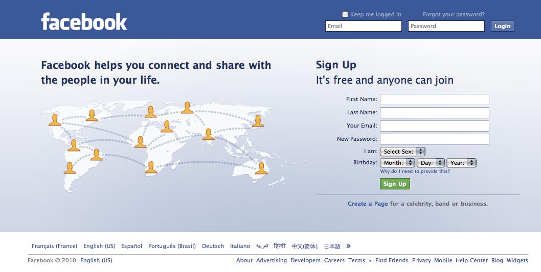 Facebook First Page Le Site De L Ev 232 Nementiel